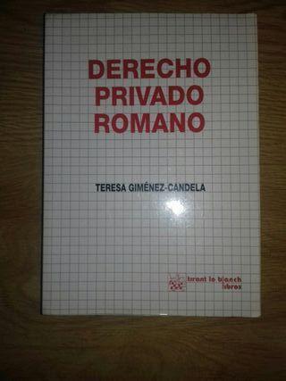 LIBRO DERECHO ROMANO PRIVADO TERESA GIMÉNEZ