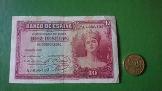 BILLETE 10 PESETAS 1935