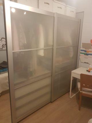 Armario puertas correderas cristal 2m