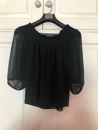 Blusa negra fiesta
