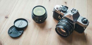 Pentax MX + 28mm f2.8 + 50mm 1.7 + filtros