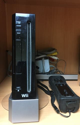 Consola Wii Negra casi nueva