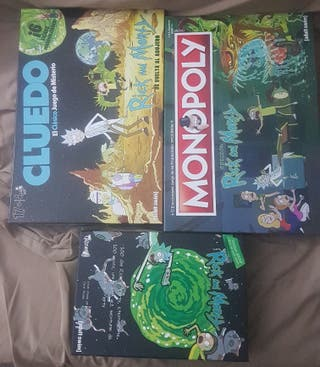juegos Rick and Morty Monopoly 100 días cluedo