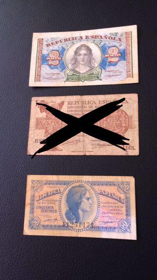 Billetes de la Republica, Banco de España, monedas
