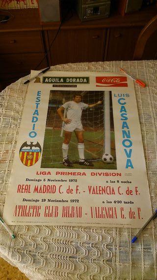 Cartel del Valencia CF del año 1972.
