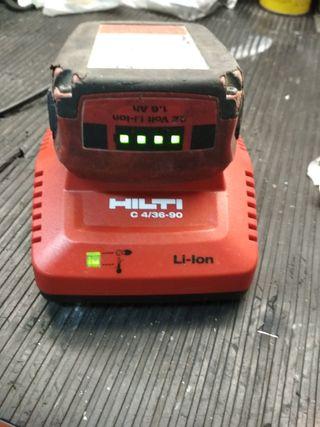 cargador y bateria Hilti