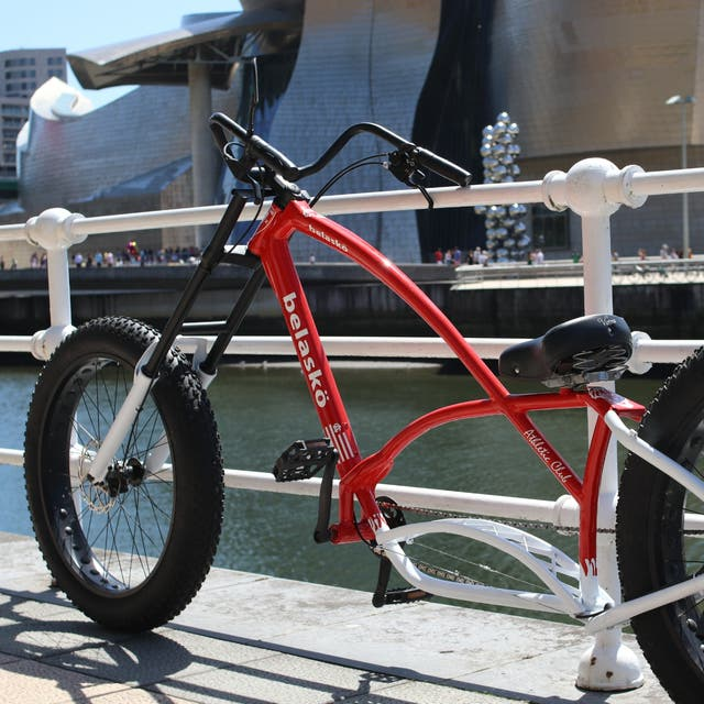 bici custom chopper tributo al Athletic