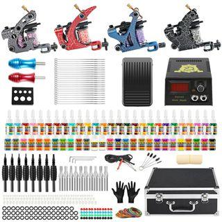 kit máquina de tatuaje con maletin