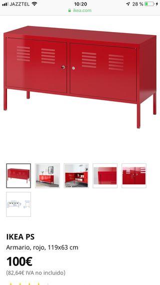 Mueble armario rojo PS ikea