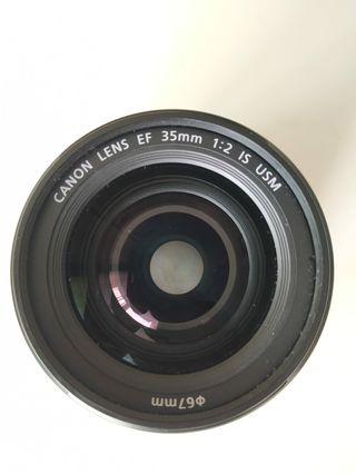 Objetivo Canon 35 mm IS f2 USM