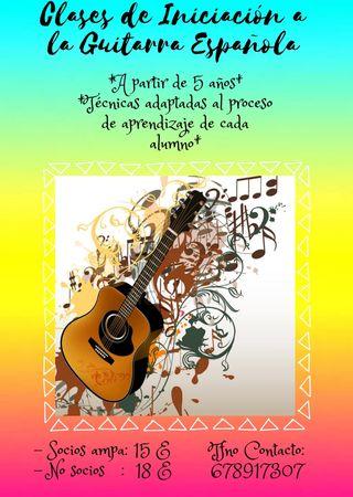 Clases de iniciación a la guitarra¡