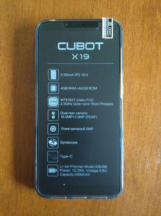 "NUEVO - Cubot X19 de 5.93"", 4GB Ram 64GB Rom"