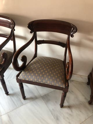 2 sillas madera
