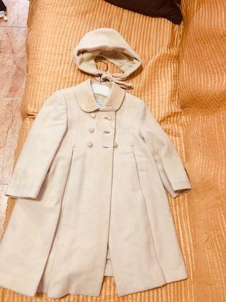 Abrigo de lana niña de 24 meses