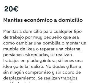 MANITAS A DOMICILIOS 20 EUROS