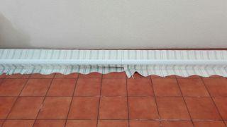 Toldo para terraza blanco y verde