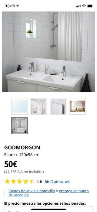Espejo baño Godmorgon Ikea