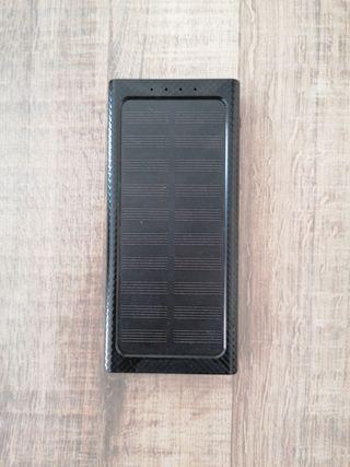 Batería cargable solar y corriente