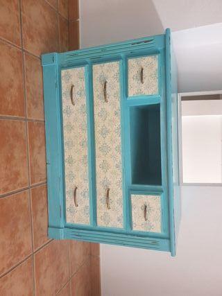 mueble restaurado regalo espejo