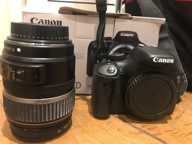 Cámara y objetivo Canon