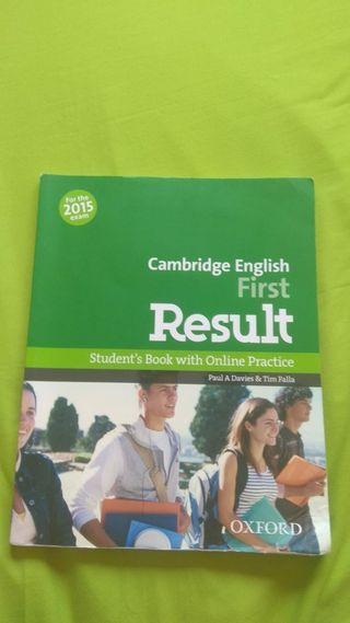 Libro inglés - Cambridge first de Oxford
