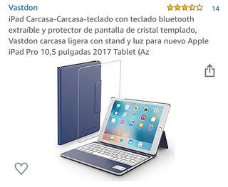 Funda carcasa iPad, teclado y protector Apple
