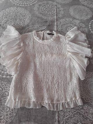 Blusa Blanca fruncida