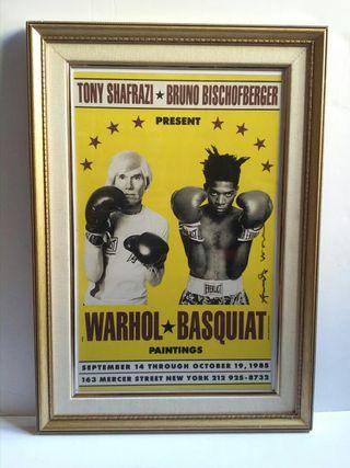 Cuadro grande Warhol Basquiat