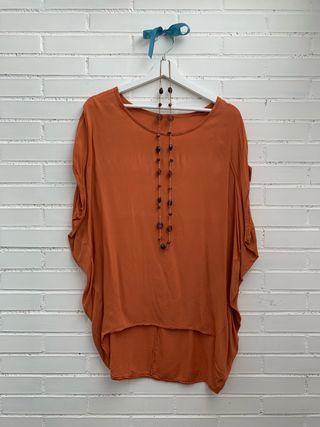 Blusa color teja + REGALO COLLAR