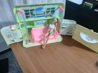 maletín casa cassette Barbie antigua