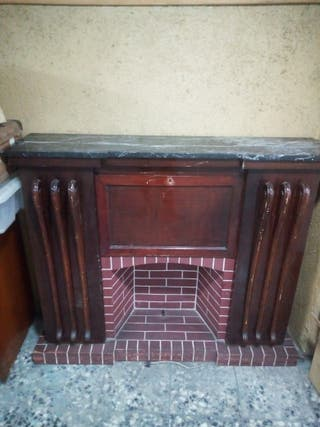 Mueble bar tipo chimenea