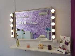 espejo tocador maquillaje con iluminación