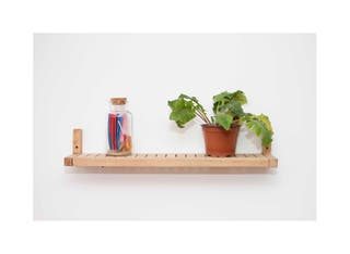 Estante/pared/madera/hogar/jardin.
