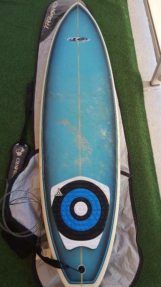 Tabla surf Evolutiva 6.10, con funda.