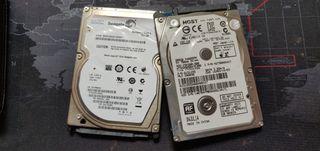2 DISCOS DUROS DE 500 Y 250 GB PARA REPARAR