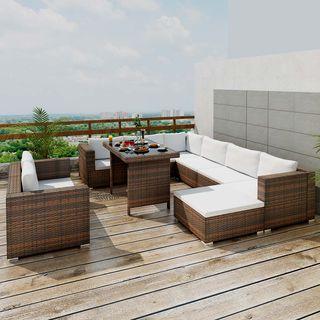 vidaXL Set muebles de jardín 10 pzas 41877