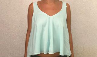 Blusa Zara azul celeste