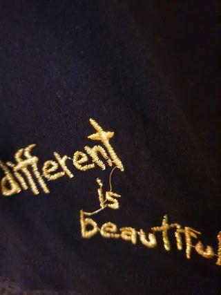 blusa de encaje de desigual xl