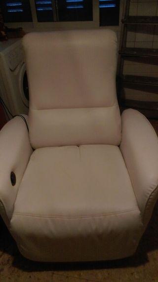 30 euros sillon reclinable blanco