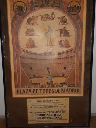 cartel toros madrid 1985
