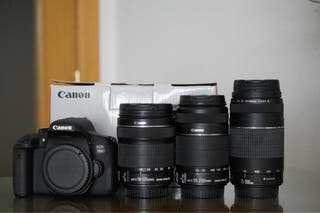 Canon EOS 750D + objetivo Canon IS 18-135mm