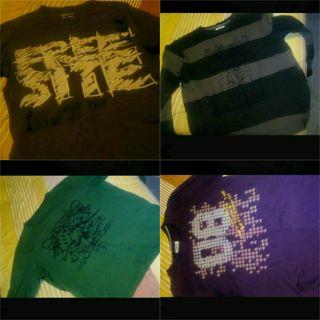 4 camisetas XL entretiempo