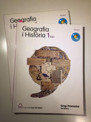 Libros de Geografia i història 1ESO