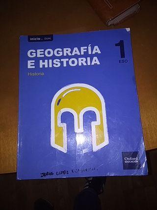 libros 1 de eso geográfica e historia