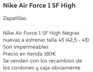 Nike Air Force sf high nuevos