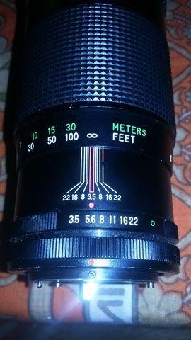 Zoom cámara de fotos VIVITAR 200 MM