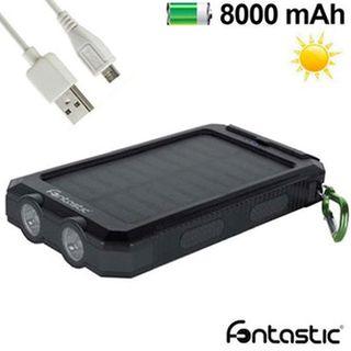 CARGADOR SOLAR POWER BANK 8000 MAH 2 X USB FONTAST