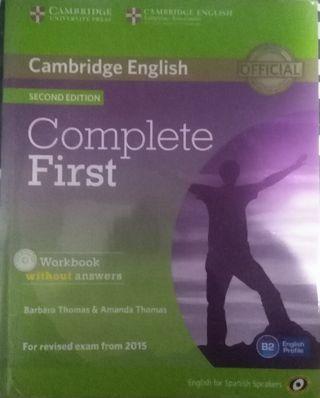 libro de inglés. Workbook. Complete First
