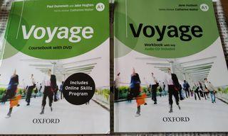 libro inglés voyage A1 Oxford como nuevo