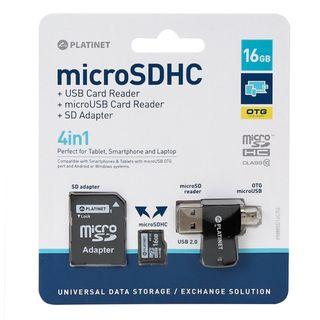 TARJETA MEMORIA MICRO SD CON ADAPT. X16 GB PLATINE